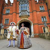 """Hampton Court April 9th  Hampton Court Palace, King Henry VIII's most famous Royal residence launches """"Heads and Hearts"""" a year long program of exhibitions and events marking the 500th annyversary of the Tudor Monarch's accession to the throne...***Standard Licence  Fee's Apply To All Image Use***.Marco Secchi /Xianpix. tel +44 (0) 845 050 6211. e-mail ms@msecchi.com or sales@xianpix.com.www.marcosecchi.com"""