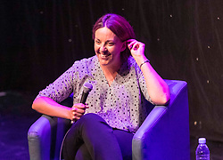 Kezia Dugdale takes part in an interview with Matt Forde at the Edinburgh Fringe Festival. During the interview she confessed that she played the part of Nicola Sturgeon during Ed Miliband's 2015 Westminster campaign.<br /> <br /> Pictured: Kezia Dugdale and Matt Forde
