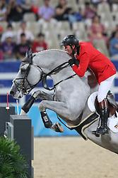 Lansink Jos (BEL) - Cavalor Cumano<br /> Olympic Games Hong Kong 2008<br /> Photo © Dirk Caremans - Hippo Foto