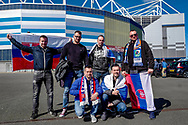 Wales fans outside the ground ahead of the UEFA European 2020 Qualifier match between Wales and Slovakia at the Cardiff City Stadium, Cardiff, Wales on 24 March 2019.
