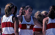 Barcelona, SPAIN.  CAN W8+ gold medalist, centre, Shannon CRAWFORD. 1992 Olympic Rowing Regatta Lake Banyoles, Catalonia [Mandatory Credit Peter Spurrier/ Intersport Images]