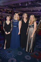 Left to right, BECKY COX, FREDDIE SLOAN and ROSIE NIXON at The Butterfly Ball in aid of Caudwell Children held at the Grosvenor House, Park Lane, London on 25th June 2015