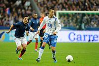 FOOTBALL - UEFA EUROPEAN CHAMPIONSHIP 2012 - QUALIFYING - GROUP D - FRANCE v BOSNIA - 11/10/2011 - PHOTO JEAN MARIE HERVIO / DPPI - HARIS MEDUNJANIN (BOS)