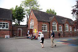 © London News Pictures. 05/05/2011. Voters today went to the polls in Maidstone, Kent, to vote in the referendum for reform in the voting system known as AV (Alternative Voting). The turnout is expected to be low.Picture credit should read Manu Palomeque/London News Pictures.
