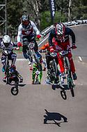 2018 UCI BMX Supercross<br /> Round 8 Santiago Del Estero (Argentina)<br /> Motos#187 (GARCIA Jared) USA<br /> #122 (TOUGAS Alex) CAN<br /> #4 (HARMSEN Joris) NED