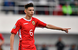 Gibraltar's Louie Annesley during the UEFA Euro 2020 Qualifying, Group D match at the Victoria Stadium, Gibraltar.
