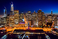 Ferry Building, Embarcadero & SF Skyline