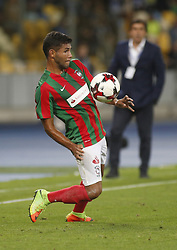 August 24, 2017 - Maritimo  Bebeto in action during the Europa League second play-off soccer match between FC Dynamo Kyiv and FC Maritimo, at the Olimpiyskyi stadium in Kyiv, Ukraine, August 24, 2017. (Credit Image: © Anatolii Stepanov via ZUMA Wire)
