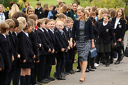 © Licensed to London News Pictures. 25/09/2014. WELLS, UK The Countess of Wessex is visiting Wells Cathedral school and Wells Cathedral today 25th September 2014. Photo credit : Jason Bryant/LNP