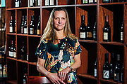 Kate Bolling owner of Oregon Wines On Broadway at her Portland shop.