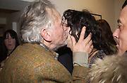 David Bailey and Marie Helvin. Dom Perignon collection, 'Platinum' by David Bailey. Hamiltons, 19 November 2002. .© Copyright Photograph by Dafydd Jones 66 Stockwell Park Rd. London SW9 0DA Tel 020 7733 0108 www.dafjones.com