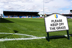 A general view of the One Call Stadium, home to Mansfield Town - Mandatory by-line: Ryan Crockett/JMP - 28/07/2018 - FOOTBALL - One Call Stadium - Mansfield, England - Mansfield Town v Rotherham United - Pre-season friendly