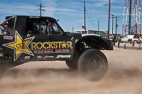 Rob MacCachren trophy truck arrives at finish of 2011 San Felipe Baja 250