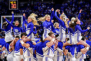Cheerleaders.<br /> <br /> The University of Kentucky men's basketball team beats Asbury 156-63 in the Cats final exhibition game on Sunday Nov., 6, 2016, at Rupp Arena in Lexington, Ky.<br /> <br /> Photo by Elliott Hess   UK Athletics