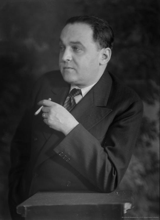 Erich Pommer, film producer, 1929