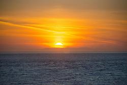 Sunset over the Strait of Juan de Fuca, Whidbey Island, Washington, US