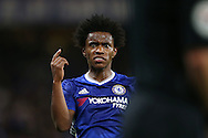 Willian of Chelsea reacts.  Premier league match, Chelsea v Liverpool at Stamford Bridge in London on Friday 16th September 2016.<br /> pic by John Patrick Fletcher, Andrew Orchard sports photography.