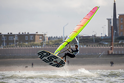 Kiran Badloe training in Scheveningen. Together with Dorian van Rijsselberghe Kiran is in the running for representing the Netherlands in the Finn class during  2020 Summer Olympics. 19 October 2019