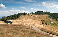 Katun (summer cottage) and truck, Biogradska gora national park, Montenegro © Rudolf Abraham
