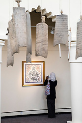 Interior of Calligraphy Museum in Sharjah, the only museum dedicated to calligraphy in the Middle East, United Arab Emirates