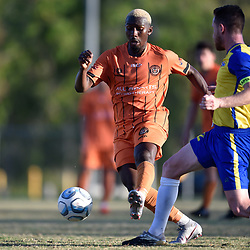 BRISBANE, AUSTRALIA - NOVEMBER 14:  during the NPL Queensland Senior Mens Round 20 match between Eastern Suburbs FC and Brisbane Strikers at Heath Park on November 14, 2020 in Brisbane, Australia. (Photo by Patrick Kearney)