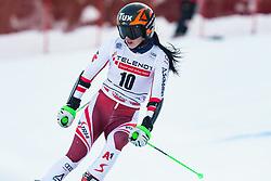 Stephanie Brunner (AUT) during the Ladies' Giant Slalom at 57th Golden Fox event at Audi FIS Ski World Cup 2020/21, on January 17, 2021 in Podkoren, Kranjska Gora, Slovenia. Photo by Vid Ponikvar / Sportida