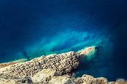 Clear mediterranean sea seen from a cliff near Cap Formentor on the island Mallorca<br /> Redbubble: https://www.redbubble.com/shop/ap/76282118