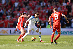 March 24, 2019 - Cardiff, United Kingdom - Ondrej Duda and Joe Allen during the UEFA European Championship Group E Qualifying match between Wales and Slovakia at the Cardiff City Stadium, Cardiff on Sunday 24th March 2019. (Credit Image: © Mi News/NurPhoto via ZUMA Press)