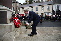 Taoiseach Enda Kenny at a Remembrance Sunday service at the Cenotaph in Enniskillen, held in tribute for members of the armed forces who have died in major conflicts.