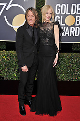 Keith Urban, Nicole Kidman at the 75th Golden Globe Awards held at the Beverly Hilton in Beverly Hills, CA on January 7, 2018.<br /><br />(Photo by Sthanlee Mirador)