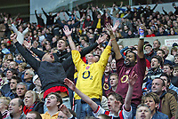 Photo: Andrew Unwin.<br /> Sunderland v Arsenal. The Barclays Premiership. 01/05/2006.<br /> Arsenal fans cheer on their team.