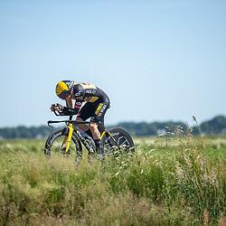EMMEN (NED) June 16: <br /> CYCLING <br /> Tim van Dijk (Nederlands Jumbo Visma Dev) dring the Dutch Nationals Timetrail around Emmen