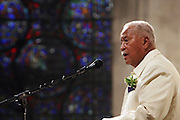 David N. Dinkins, Former Mayor of New York City, at the Celebration of the Life and Legacy of Dr. Barabara Ann Teer at the Memorial Service held at The Riverside Church in Harlem, NY on Monday, July 28, 2008