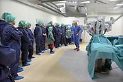 Nederland, Nijmegen, 2-2-2013Open dag bij het umc radboud met als thema kanker en kankerbestrijding. Demonstratie van de Da Vinci, de operatierobot die bij prostaatoperaties gebruikt wordt.Foto: Flip Franssen