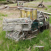 Old, retired lobster traps
