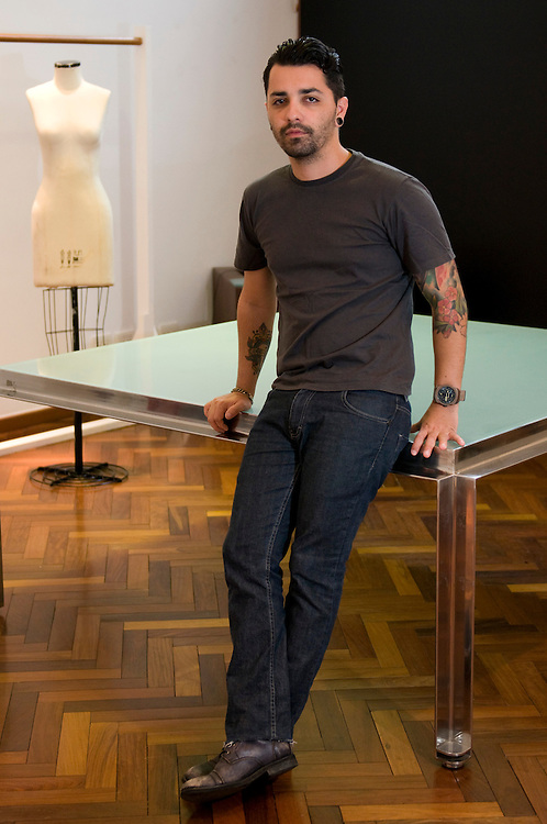 Belo Horizonte_MG, Brasil.<br /> <br /> Retrato do estilista Lucas Magalhaes.<br /> <br /> Portrait of fashion designer Lucas Magalhaes.<br /> <br /> Foto: DANIEL CERQUEIRA / NITRO