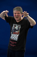 Acclaimed British children's author Darren Shan, pictured at the Edinburgh International Book Festival where he talked about his new series of books entitled 'Zom-B'. The three-week event is the world's biggest literary festival and is held during the annual Edinburgh Festival. The 2012 event featured talks and presentations by more than 500 authors from around the world.