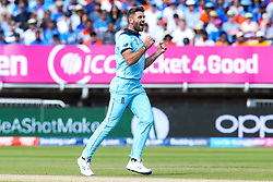 Liam Plunkett of England celebrates taking the wicket of Virat Kohli of India - Mandatory by-line: Robbie Stephenson/JMP - 30/06/2019 - CRICKET - Edgbaston - Birmingham, England - England v India - ICC Cricket World Cup 2019 - Group Stage