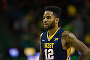 WACO, TX - MARCH 5: Tarik Phillip #12 of the West Virginia Mountaineers looks on against the Baylor Bears on March 5, 2016 at the Ferrell Center in Waco, Texas.  (Photo by Cooper Neill/Getty Images) *** Local Caption *** Tarik Phillip
