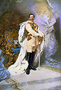 Wilhelm II 1859-1941 , full-length portrait of Kaiser Wilhelm II by Ferdinand Keller, 1893. Ferdinand Keller 1842-1922, German artist