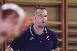 Coach Juraj Suja of Slovakia  during Women's Basketball - Slovenia vs Slovaska on the 14th of June 2019, Dvorana Poden, Skofja Loka, Slovenia. Photo by Matic Ritonja / Sportida
