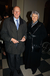 VISCOUNT & VISCOUNTESS MONTGOMERY OF ALAMAIN at the annual House of Lords and House of Commons Parliamentary Palace of Varieties in aid of Macmillan Cancer Support held at St.John's Smith Square, London W1 on 1st February 2007.<br /><br />NON EXCLUSIVE - WORLD RIGHTS