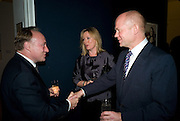 ANDREW ROBERTS;  FFION HAGUE; WILLIAM HAGUE;, Master and Commanders by Andrew Roberts book launch. Sotheby's Bond Street . London. 13 October 2008 *** Local Caption *** -DO NOT ARCHIVE -Copyright Photograph by Dafydd Jones. 248 Clapham Rd. London SW9 0PZ. Tel 0207 820 0771. www.dafjones.com