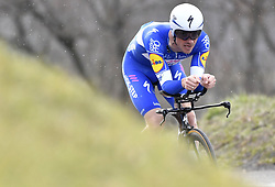 March 7, 2018 - Saint Etienne, France - SAINT-ETIENNE, FRANCE - MARCH 7 : DEVENYNS Dries  (BEL)  of Quick - Step Floors  during stage 4 of the 2018 Paris - Nice cycling race, an individual time trial over 18,4 km from La Fouillouse to Saint-Etienne on March 07, 2018 in Saint-Etienne, France, 07/03/2018 (Credit Image: © Panoramic via ZUMA Press)