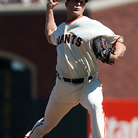 19 April 2009: San Francisco Giants' Bob Howry pitches against the Arizona Diamondbacks during the San Francisco Giants' 2-0 win  against the Arizona Diamondbacks at AT&T Park in San Francisco, CA.