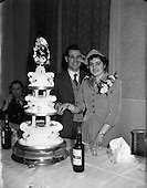 1952 - Wedding of John O'Neill and Peggy O'Connell at the Four Courts Hote