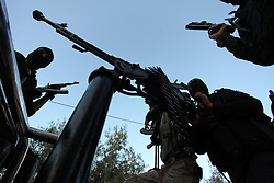 October 19, 2016 - Gaza City, Gaza Strip, Palestinian Territory - Palestinian Islamic Jihad militants hold their weapons during a military parade marking the 29 anniversary of their group in Gaza October 19, 2016  (Credit Image: © Ashraf Amra/APA Images via ZUMA Wire)