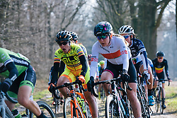 Alena Amialiusik on the Dalakersweg cobbles - Ronde van Drenthe 2016, a 138km road race starting and finishing in Hoogeveen, on March 12, 2016 in Drenthe, Netherlands.