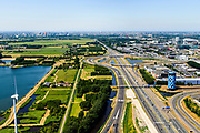 Nederland, Noord-Holland, Amsterdam,  29-06-2018; Bullewijk, Knooppunt Holendrecht, A2 en A9. <br /> <br /> luchtfoto (toeslag op standard tarieven);<br /> aerial photo (additional fee required);<br /> copyright foto/photo Siebe Swart