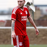 Glenafton Athletic player Alan Cairns has a close encounter with a dove at New Tinto Park, Glasgow during the West of Scotland Cup match versus Glenafton. Picture Robert Perry 27th Feb 20<br /> <br /> Please credit photo to Robert Perry<br /> <br /> FEE PAYABLE FOR REPRO USE<br /> FEE PAYABLE FOR ALL INTERNET USE<br /> www.robertperry.co.uk<br /> NB -This image is not to be distributed without the prior consent of the copyright holder.<br /> in using this image you agree to abide by terms and conditions as stated in this caption.<br /> All monies payable to Robert Perry<br /> <br /> (PLEASE DO NOT REMOVE THIS CAPTION)<br /> This image is intended for Editorial use (e.g. news). Any commercial or promotional use requires additional clearance. <br /> <br /> Copyright 2016 All rights protected.<br /> first use only<br /> contact details<br /> Robert Perry     <br /> 07702 631 477<br /> robertperryphotos@gmail.com<br />   <br /> Robert Perry reserves the right to pursue unauthorised use of this image . If you violate my intellectual property you may be liable for  damages, loss of income, and profits you derive from the use of this image.